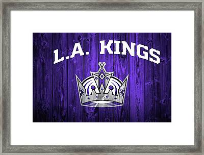 Los Angeles Kings Barn Door Framed Print by Dan Sproul
