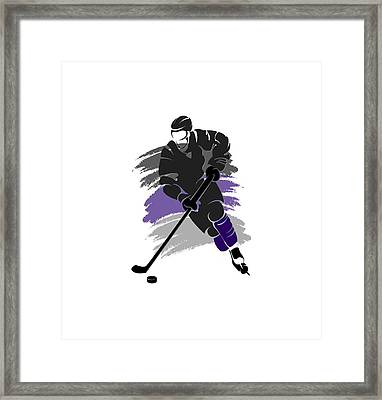 Los Angeles Kings Player Shirt Framed Print by Joe Hamilton