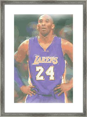 Los Angeles Lakers Kobe Bryant 2 Framed Print by Joe Hamilton