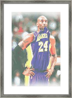 Los Angeles Lakers Kobe Bryant 3 Framed Print by Joe Hamilton
