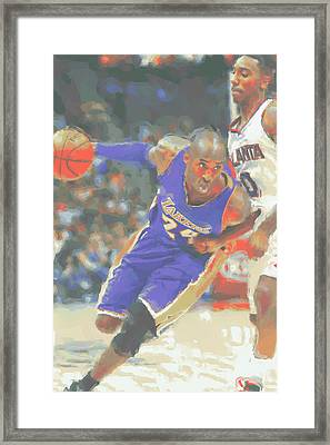 Los Angeles Lakers Kobe Bryant Framed Print by Joe Hamilton