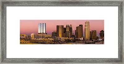 Los Angeles Moonrise 2014 Framed Print