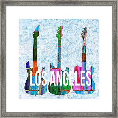 Los Angeles Music Scene Framed Print
