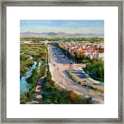 Los Angeles - Playa Vista From South Bluff Trail Road Framed Print