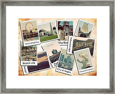 Los Angeles Polaroid Collage Framed Print by Ricky Barnard
