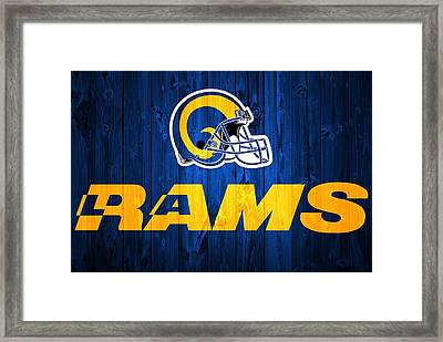 Los Angeles Rams Barn Door Framed Print by Dan Sproul