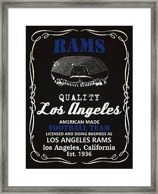 Los Angeles Rams Whiskey Framed Print