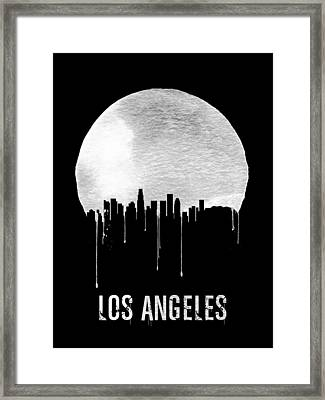 Los Angeles Skyline Black Framed Print