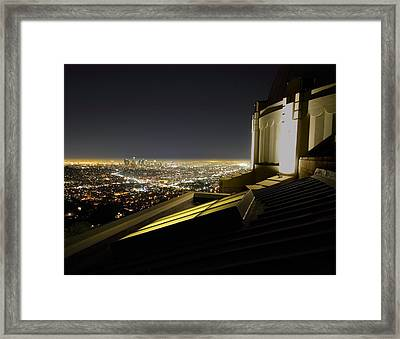 Los Angeles Skyline From The Griffith Observatory Framed Print