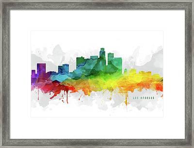 Los Angeles Skyline Mmr-uscala05 Framed Print