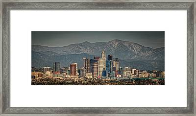 Los Angeles Skyline Framed Print by Neil Kremer