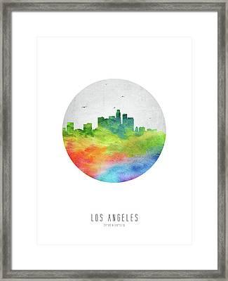 Los Angeles Skyline Uscala20 Framed Print