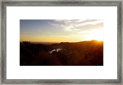 Los Angeles Sunset Framed Print by Jera Sky