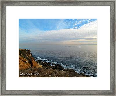 Framed Print featuring the photograph Los Angeles Sunset by Joan  Minchak