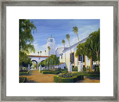 Los Angeles Union Station  Framed Print by Eric Smith