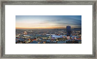 Los Angeles West View Framed Print by Kelley King