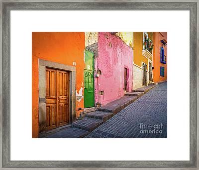 Los Colores De Guanajuato Framed Print by Inge Johnsson