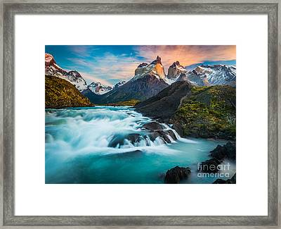 Los Cuernos Fairyland Framed Print by Inge Johnsson