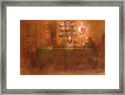 Los Deberes 1898 Framed Print