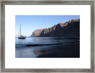 Los Gigantes Yacht Framed Print by Phil Crean