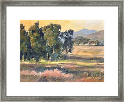 Los Osos Valley - For The Love Of The Land - California Landscape Painting Framed Print by Karen Winters