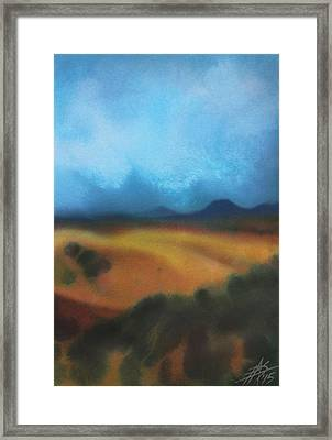 Los Penasquitos Canyon Vii Or Approaching Storm Framed Print