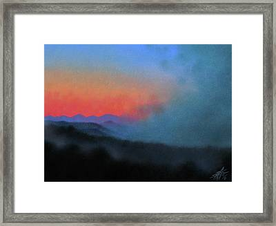 Los Penasquitos Canyon Xiii--coastal Fog At Dawn Framed Print by Robin Street-Morris