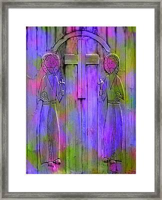 Los Santos Cuates - The Twin Saints Framed Print