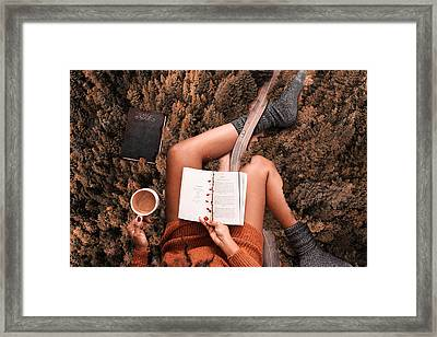 Lose Yourself In A Good Book Framed Print