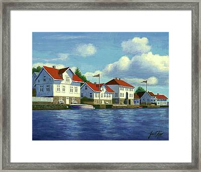 Loshavn Village Norway Framed Print