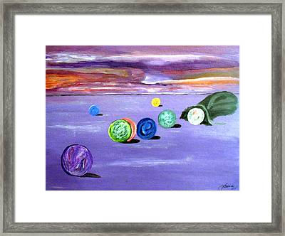 Losing My Marbles Framed Print by  Laurie Homan