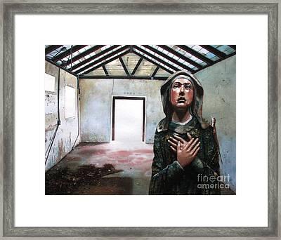 Losing My Religion Framed Print by Denny Bond