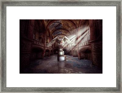 Framed Print featuring the digital art Losing My Religion by Nathan Wright