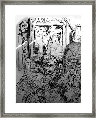 Losing Ones Marbles Framed Print by Lee M Plate
