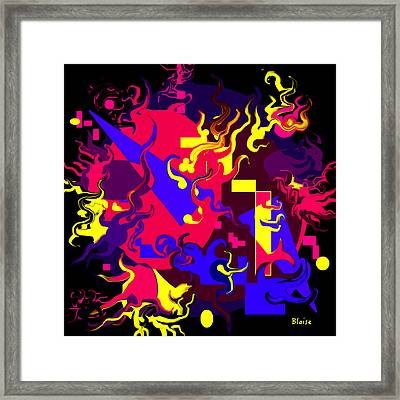Loss Of Equilibrium Framed Print by Yvonne Blasy