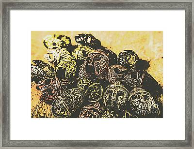 Losses From The Colossus  Framed Print