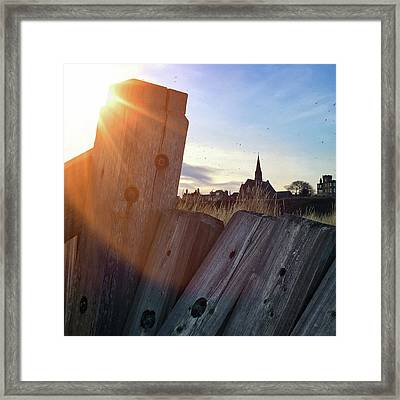Lossiemouth Sunset Framed Print by Dave Bowman