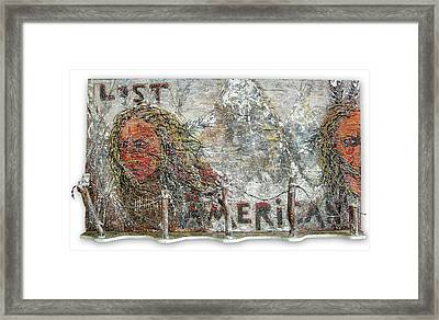 Lost Americans At Wounded Knee Framed Print by Tony A Blue