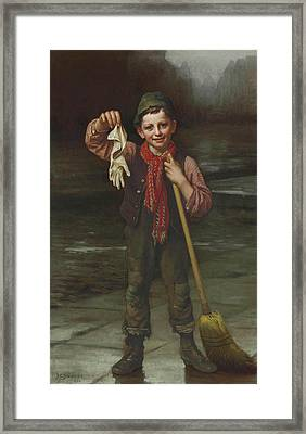 Lost And Found Framed Print by John George Brown