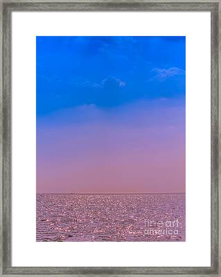 Lost At Sea Framed Print by Claudia M Photography
