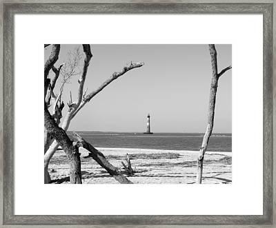 Lost At Sea...morris Island Lighthouse Framed Print by Elena Tudor