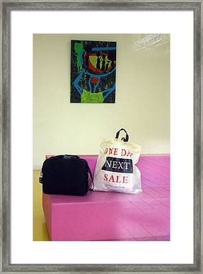 Lost Bags Framed Print by Jez C Self