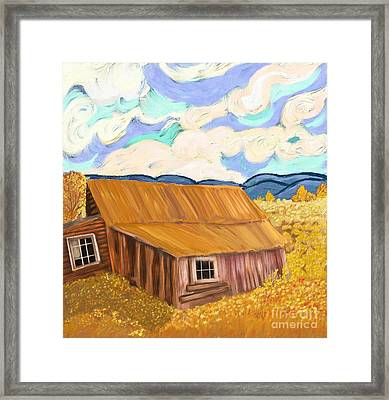 Lost Cabin In The Mountains Framed Print by Sydne Archambault