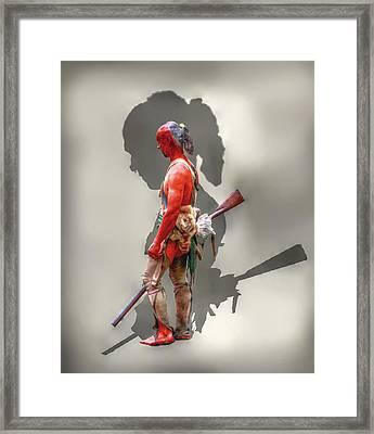 Lost Cause Seneca Warrior Ver 2 Framed Print by Randy Steele
