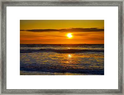 Lost Coast Sunset Framed Print