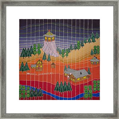 Lost Creek Lodge With Sun Temple Framed Print