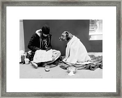 Lost Everything But My Dog Framed Print by Diana Angstadt
