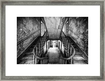 Lost Glory Staircase - Abandoned Castle Framed Print