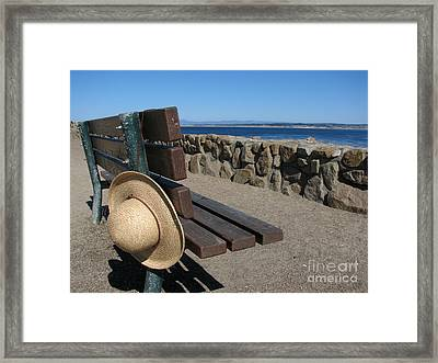 Lost Hat Framed Print