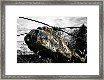 Lost Helicopter Framed Print by Joachim G Pinkawa